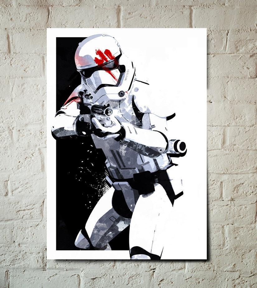 Stormtrooper Star Wars Art Finn FN-2187 The Force Awakens