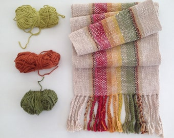 Rally 'round the Red/The Gold/ and The Green handwoven scarf