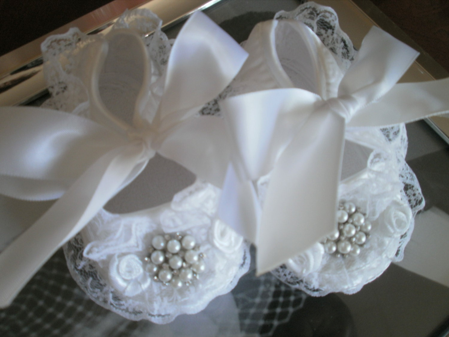 satin white baby shoes christening and baptism crib shoes