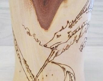 Wooden Dragon Ale Cup