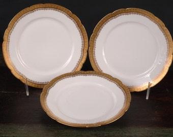 Limoges Plates, J. Pouyat, S & G Gump, San Francisco