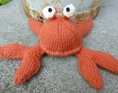 Arnold the Crab Knitted Toy