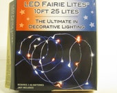 LED Patriotic Miniature Rice Lights Battery Operated