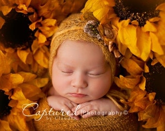 Leighton Heritage Newborn Stretch Wrap IN STOCK Ready to Ship Natural Organic Knit Premium Swaddle Photography Prop Rustic Fall Cloth Layer