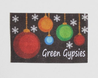 Miniature Christmas Doormat Personalized With Your Name or Words in Dollhouse or Playscale