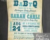 Printable BaByQ Baby Shower Invitation - Digital File ONLY