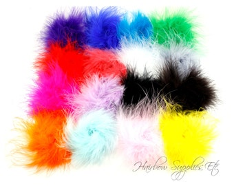 Marabou Puffs 3 inch - Marabou Puff, Marabou Feathers, Marabou Feather Puff, Hair Feathers, Ostrich Feathers, Feathers for Crafts