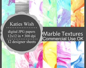 Marbled Paper Digital Texture Kit commercial use jpg overlays Instant Download