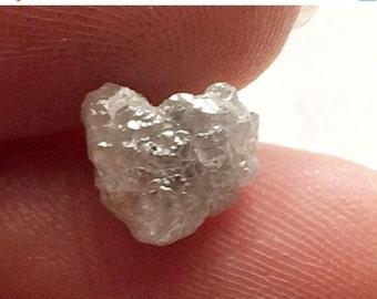 50% VALENTINE SALE Valentine Collection White Grey Rough Diamond, Natural Diamond Heart, White Grey Diamond Heart, White Raw Diamond, 1 Pc