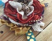 Pumpkin pie headband or clip by Cozette Couture