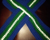 reserved for  pkaruzin Men's keyhole Scarf  Utica comets Hockey Team colors