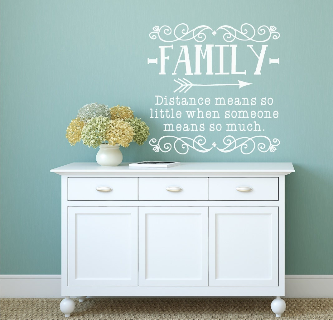 Distance means so little family distance family wall decal zoom amipublicfo Images