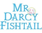 """Mr Darcy Fishtail Embroidery Font 0.5"""", 1"""", 1.5"""", 2"""", 2.5"""" & 3"""", Aa-Zz letters, numbers, punctuation in 6 sizes, INSTANT DOWNLOAD available"""