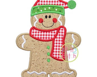 Gingerbread Santa Applique Design In Hoop Size(s) 4x4, 5x7, & 6x10 INSTANT DOWNLOAD now available