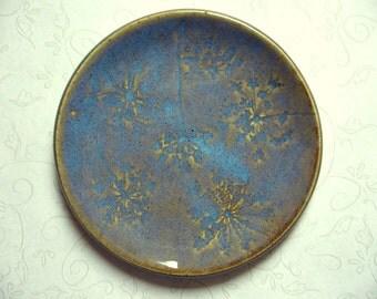 Blue Opal Queen Anne's Lace Pottery Spoon Rest