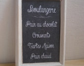 Miniature blackboard boulangerie