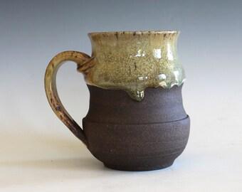 Pottery Mug, 16 oz, handmade ceramic cup, handthrown mug, stoneware mug, pottery mug, unique coffee mug, ceramics and pottery