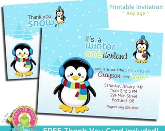 Winter Onederland Invitation / Birthday Invitation / Winter Wonderland Invitation / Winter Onederland Invite / First Birthday / 1st Birthday