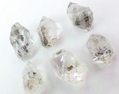 Hydrocarbon Diamond QUARTZ Crystals. Natural. Hydrocarbon Inclusions. Some Doubly-Terminated. 6 pc. 27 cts. 8x12 to 10x14 mm (QTZ506)