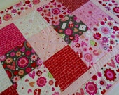 Valentine Table Runner, Quilted Table Runner, Table Topper, Table Quilt, Dresser Scarf, Love Bugs from Riley Blake