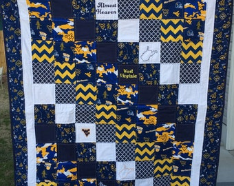 Custom Team Quilt, Lap Quilt,  Game Day Quilt, University, Football, College