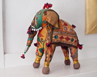 Antique Indian Embroidered Elephant