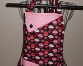 Hearts and Cupcakes Women's Apron