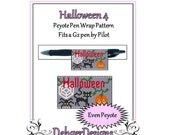 Bead Pattern Peyote(Pen Wrap/Cover)-Halloween (4)