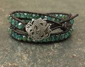 Sparkling Celtic Seahorse Jewelry Silver Bronze Turquoise Celtic Seahorse Bracelet