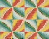 Bargello Pinwheels Quilt Pattern, 4867-1e, bed topper Quilt, pinwheel wall quilt