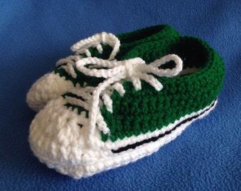 Crochet Sneaker Slippers