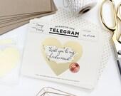 Scratch-off Telegram // Be My Maid of Honor Card, Will You Be My Bridesmaid Proposal, Bridesmaid Box, Telegram Card // Classic Cream & Black
