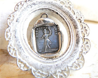 ALWAYS CHEERFUL -Handmade Wax Seal Necklace, Jewellery,  Gift for Dancer, WHIMSICAL Ballerina