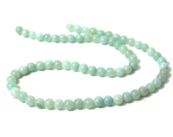 Amazonite 6mm Round // Amazonite Beads // 6mm Amazonite // Smooth Round 6mm Amazonite