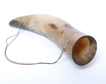 Vintage small Georgian traditional wine drinking horn. From Soviet Union.