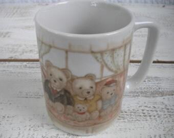 Vintage Otagiri bear family mug Japan