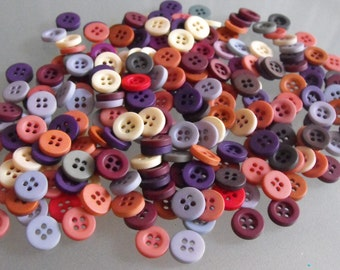 Muted Colored Vintage Buttons for Crafting, Vintage Buttons, Arts, Sewing, Crafts, Dusty Rose, Cornflower Blue, Beige, Over 200