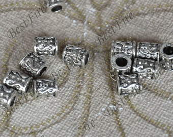 20 pcs of Spacer Beads Antique Silver Tone with S Pattern ,findings beads,Spacer Beads finding