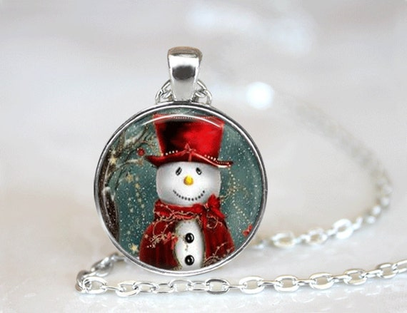 Christmas necklace jewelry glass tile