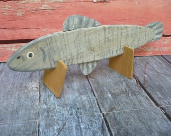 Fish Decoy Folk Art Wood Carving