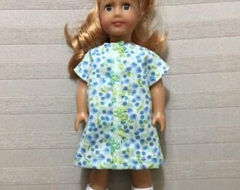 AG mini doll blue floral dress