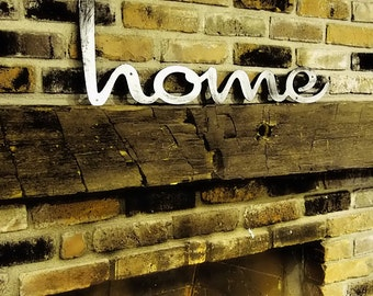 Retro Script Home Sign