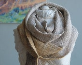 Silver Clouds Handspun & Handwoven Silk Everyday Luxury Infinity Cowl Scarf