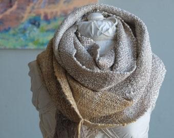 Silver Clouds Handspun & Handwoven Silk Everyday Luxury Infinity Cowl Scarf