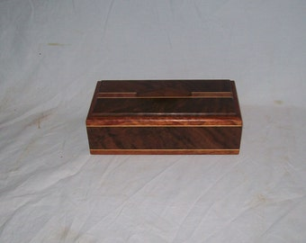Fancy Walnut with Maple and Bubinga Inlay 4x8 Box Design 8