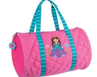 Personalized Stephen Joseph Girls Duffle Bag/PRINCESS DUFFLE BAG