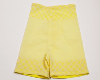 Vintage 1960s Girdle Jolie Girl Shapewear Yellow Closed Bottom Girdle Size Medium
