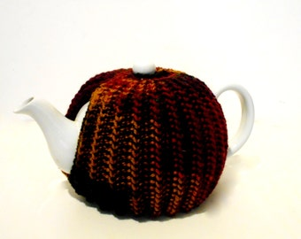 Earth Tones Tea Pot Cozy, Kitchen Accessories, Tea Pot Cover, Tea Cozies