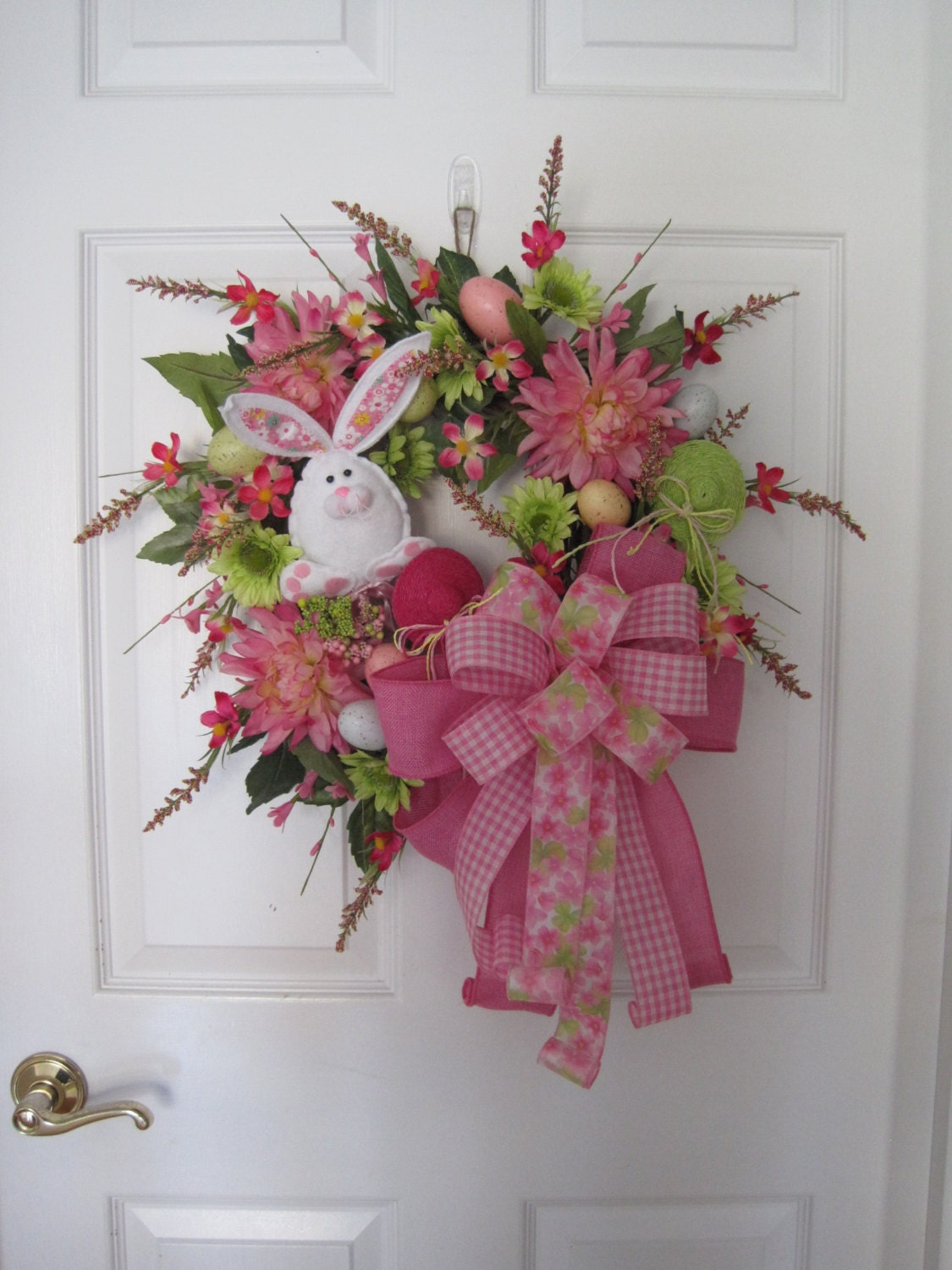 Easter Wreath Free Shipping Front Door Wreath Easter