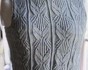 Knit Tank Top Pattern:  The Venetry Tank Top Knitting Pattern